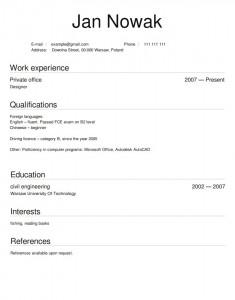 CV po angielsku wzór projektant